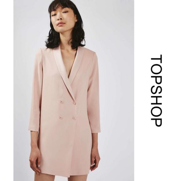 3552f15f0b61 NWT [topshop] Longline Slouch Pink Blazer/Dress. M_5af9a7f46bf5a69428834fa2